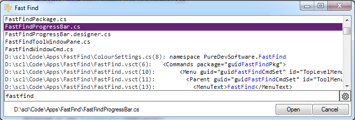 FastFind for Visual Studio v6.8